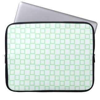Classical white and green grid Laptop Sleeve
