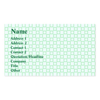 Classical white and mint green Business Card