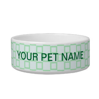 Classical white and mint green Pet Bowl