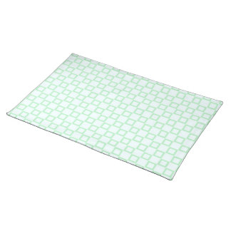 Classical white and mint green Placemate Cloth Placemat
