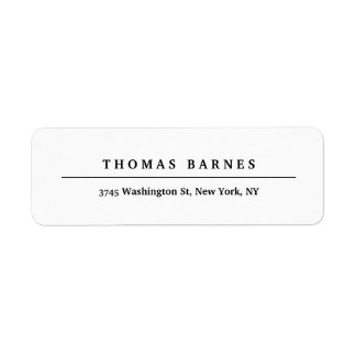 Classical White Minimalist Plain Elegant Label