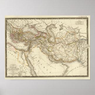 Classical World Eastern Hemisphere Map Poster