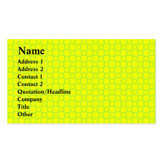Classical yellow and mint green Business Card