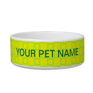 Classical yellow and mint green Pet Bowl