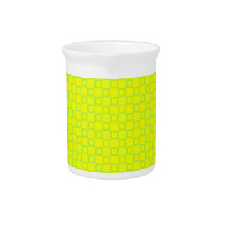 Classical yellow and mint green Pitcher