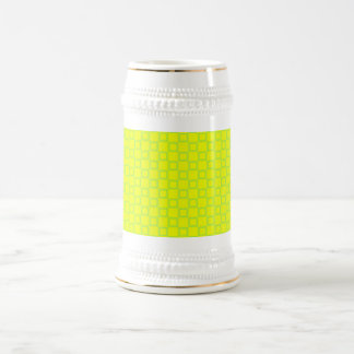 Classical yellow and mint green Stein Mug