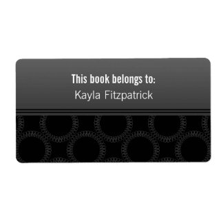 Classically Elegant Circles Bookplates Personalized Shipping Label