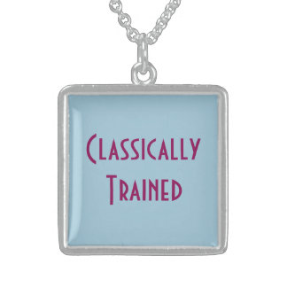 CLASSICALLY TRAINED Large Silver Pendant Necklace