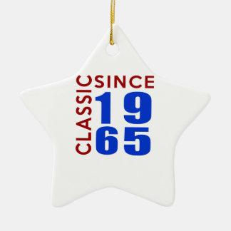 Classice Since 1965 Birthday Designs Ceramic Ornament