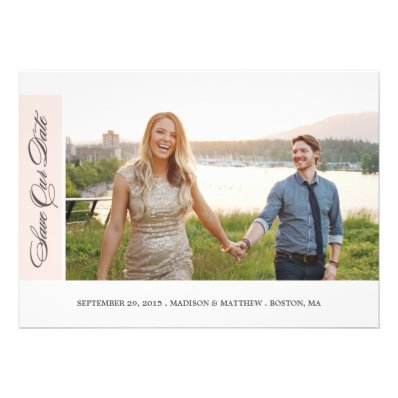 Classicly Chic | Save the Date Photo Card