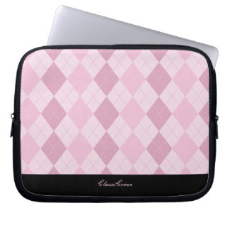 ClassiCover Argyle Pink Neoprene Device Sleeve Laptop Sleeve