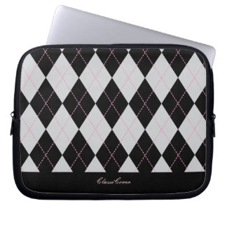 ClassiCover Black Argyle Neoprene Device Sleeve