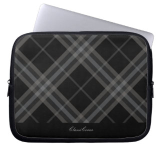 ClassiCover Gray Plaid Neoprene Device Sleeve