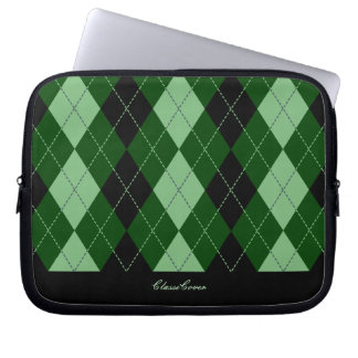 ClassiCover Green Argyle Neoprene Device Sleeve Computer Sleeve