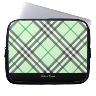 ClassiCover Plaid Green Neoprene Device Sleeve