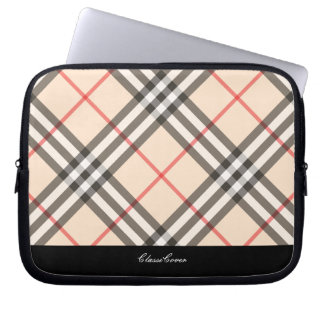 ClassiCover Red Plaid Neoprene Device Sleeve Laptop Sleeves