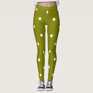 Classic's_Olive_Dots_XS-TO--XL_Leggings_ Leggings