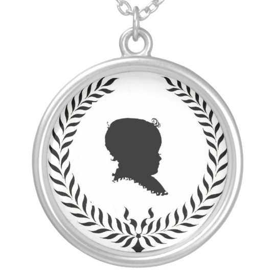classicwreath-graphicsfairy008, silosbaby silver plated necklace