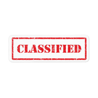 Classified red grunge label
