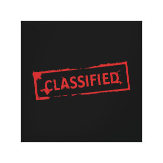 Classified Stamp Canvas Print