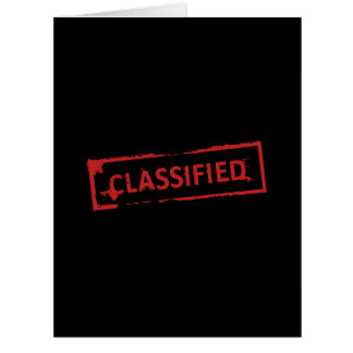 Classified Stamp Card