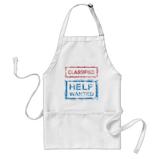 Classified Stamp Help Wanted Stamp Adult Apron