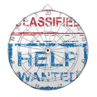 Classified Stamp Help Wanted Stamp Dart Boards