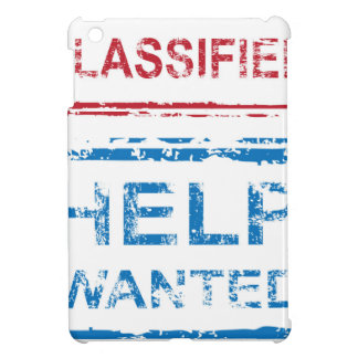 Classified Stamp Help Wanted Stamp iPad Mini Cover