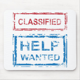 Classified Stamp Help Wanted Stamp Mouse Pad