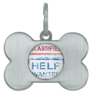 Classified Stamp Help Wanted Stamp Pet Tag