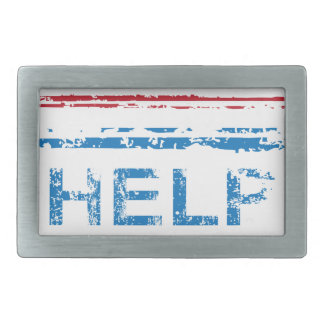 Classified Stamp Help Wanted Stamp Rectangular Belt Buckle