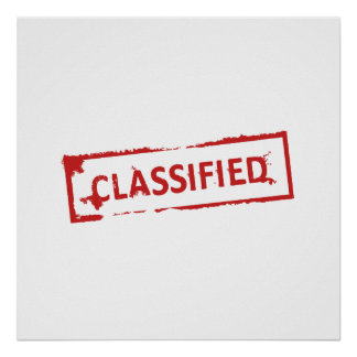 Classified Stamp Poster