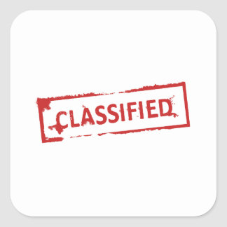 Classified Stamp Square Sticker