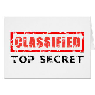 Classified Top Secret Greeting Card