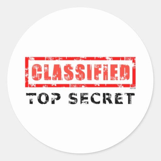Classified Top Secret Classic Round Sticker