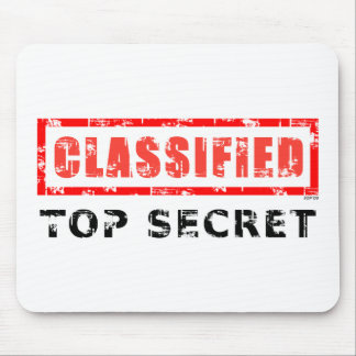Classified Top Secret Mouse Pad