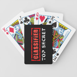 Classified Top Secret Bicycle Playing Cards