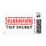 Classified Top Secret Postage Stamps