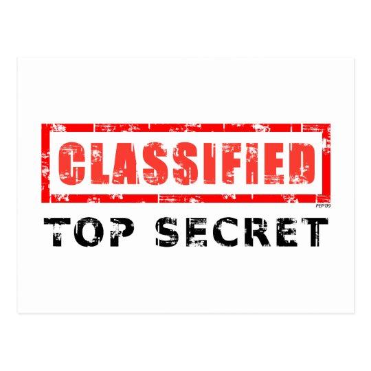 Classified Top Secret Postcard