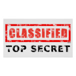 Classified Top Secret Poster