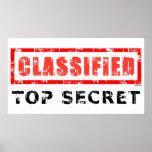 Classified Top Secret Poster
