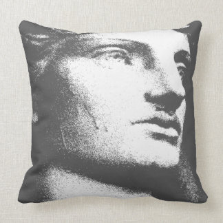 Classique Charcoal Throw Pillow