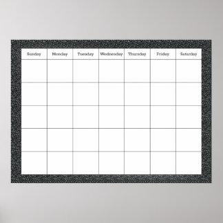 Classroom Calendar Poster