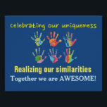 """Classroom Climate and Community Poster<br><div class=""""desc"""">Perfect for establishing a positive classroom climate and community,  this poster reflects that differences should be honored and celebrated while also acknowledging and appreciating similarities.  Together we can be awesome!</div>"""