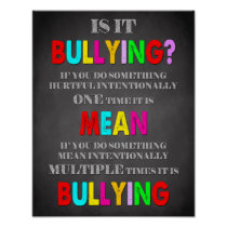 Classroom Decor, Classroom Quotes, Is it Bullying Poster