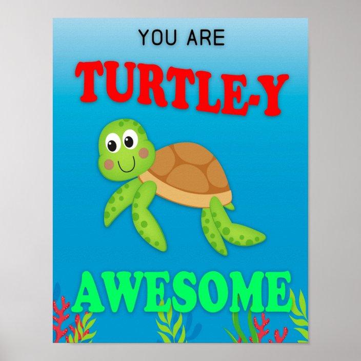 awesome sign decor classroom decor  classroom sign  turtle y awesome poster  classroom decor  classroom sign  turtle