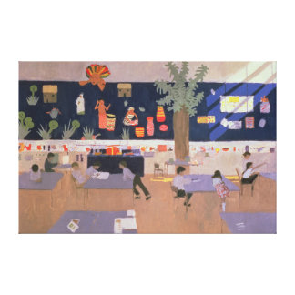 Classroom Derby 1985 Canvas Print