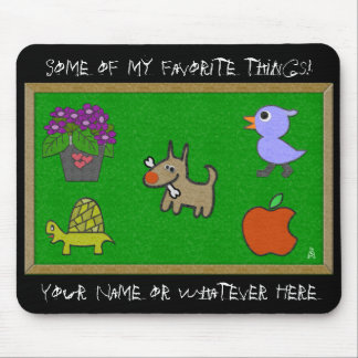 Classroom Felt and Blackboard (Personalized) Mouse Pad