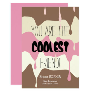 Classroom Friendship Card with Ice Cream