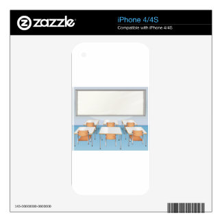 Classroom full of chairs and tables iPhone 4S skin